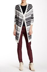 Abound Fairisle Blanket Cardigan Black