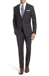 Todd Snyder Men's White Label 'May Fair' Trim Fit Solid Stretch Wool Suit Charcoal Grey