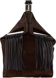 Cnc Costume National Cocoa Suede Fringed Backpack