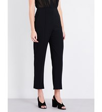 Sandro Pointers Crepe And Chiffon Jumpsuit Black