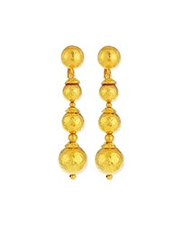 Jose And Maria Barrera 24K Gold Plated Ball Drop Earrings