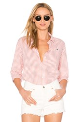 Obey 89 Check Button Down Shirt Rose