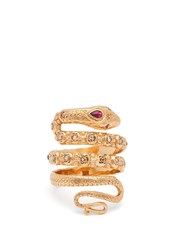 Jade Jagger 18Kt Gold Ruby And Diamond Snake Ring