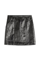 Marc By Marc Jacobs Faux Leather Mini Skirt Black