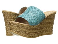 Sbicca Kersy Turquoise Women's Wedge Shoes Blue