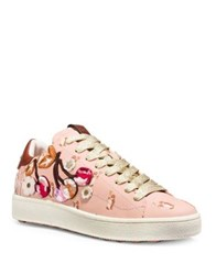 Coach Cherry Leather Fashion Sneakers Light Pink
