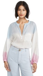 Nude Pune Ombre Top Sky Cold Rose