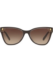 Bulgari Top Transparent Cat Eye Sunglasses 60