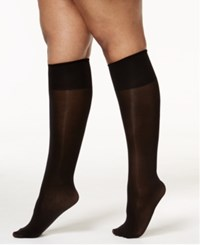 Berkshire Women's Plus Size Opaque Graduated Compression Trouser Socks Nude