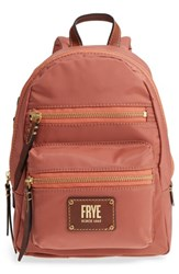 Frye Mini Ivy Water Repellent Backpack Red Dusty Rose