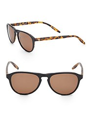 Barton Perreira 52Mm Modified Wayfarer Sunglasses Brown