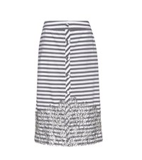 Johanna Ortiz Tanzania Striped Cotton Skirt Grey
