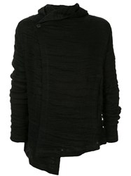Forme D'expression Asymmetric Ribbed Jacket Black
