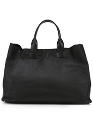 Troubadour Large Tote Bag Men Calf Leather One Size Black