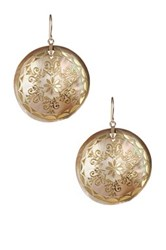 Dani G Jewelry 14K Gold Black Mother Of Pearl Dangle Earrings No Color
