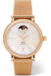 Iwc Schaffhausen Portofino Automatic Moon Phase 37 18 Karat Red Gold Rose Gold