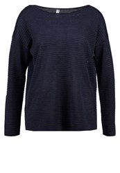 Soyaconcept Niaka Jumper Midnight Blue Melange Dark Blue