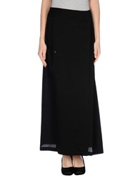 Oblique Skirts Long Skirts Women Black