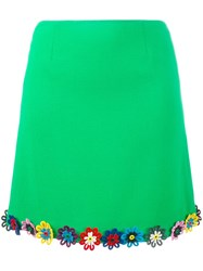 Mary Katrantzou Flower Embellished Clovis Skirt Green