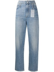 Department 5 High Rise Straight Leg Jeans White