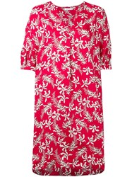 Barba Floral Print Dress Red