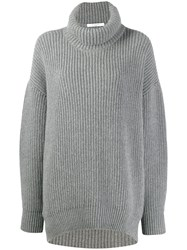 Givenchy Oversized Turtleneck Jumper Grey