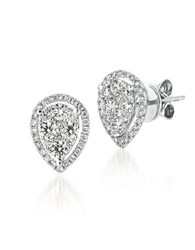 Levian 0.73 Tcw Diamonds And 14K White Gold Stud Earrings