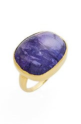Women's Pippa Small Tumbled Tanzanite Greek Ring