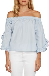 Willow And Clay Miley Off The Shoulder Top Periwinkle