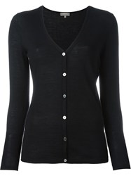 N.Peal Superfine V Neck Cardigan Black
