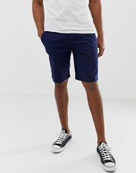 Lyle And Scott Chino Shorts In Navy