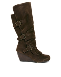 Call It Spring Virotea Wedge Knee Boots 20Brown