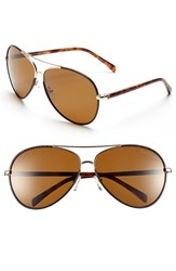 Women's Lilly Pulitzer 'Parrish' 63Mm Polarized Sunglasses Gold Brown Caramel Tortoise