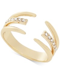 Bcbgeneration Gold Tone Crystal Claw Statement Ring