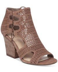 Vince Camuto Corbina Block Heel Dress Sandals Women's Shoes Smoke Taupe