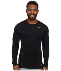 Nike Hyperwarm Lite Fitted L S Crew Black Cool Grey Cool Grey Men's Long Sleeve Pullover