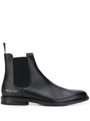 Common Projects Elasticated Panel Ankle Boots Black