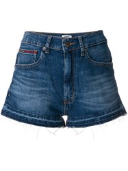 Tommy Hilfiger High Rise Denim Shorts Blue