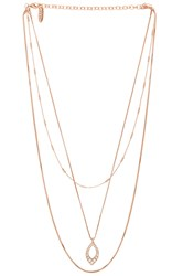 Luv Aj The Pave Marquise Charm Necklace Metallic Copper