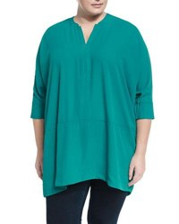 Melissa Mccarthy Seven7 Dolman Pullover Sweater Blue