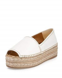 Prada Napa Leather Platform Espadrille White