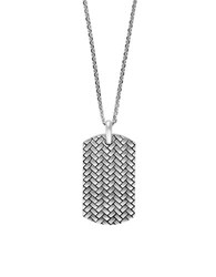 Effy Sterling Silver Dog Tag Necklace