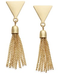 Inc International Concepts Gold Tone Fringe Stud Earrings Only At Macy's