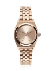 Nixon Small Time Teller Rose Gold Watch