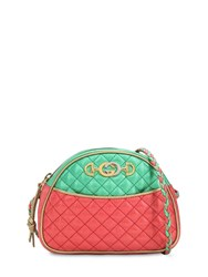 Gucci Small Two Tone Quilted Leather Bag Green Red