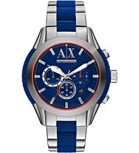 Armani Exchange Ax1386 Silicone And Steel Watch Blue
