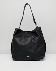 Paul Costelloe Real Leather Slouch Shoulder Bag Black