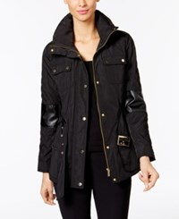 Calvin Klein Quilted Utility Jacket Black