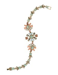 Marchesa Multicolored Crystal Bracelet Gold