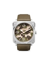 Bell And Ross Br S Green Camo 39Mm Kakhi And Grey